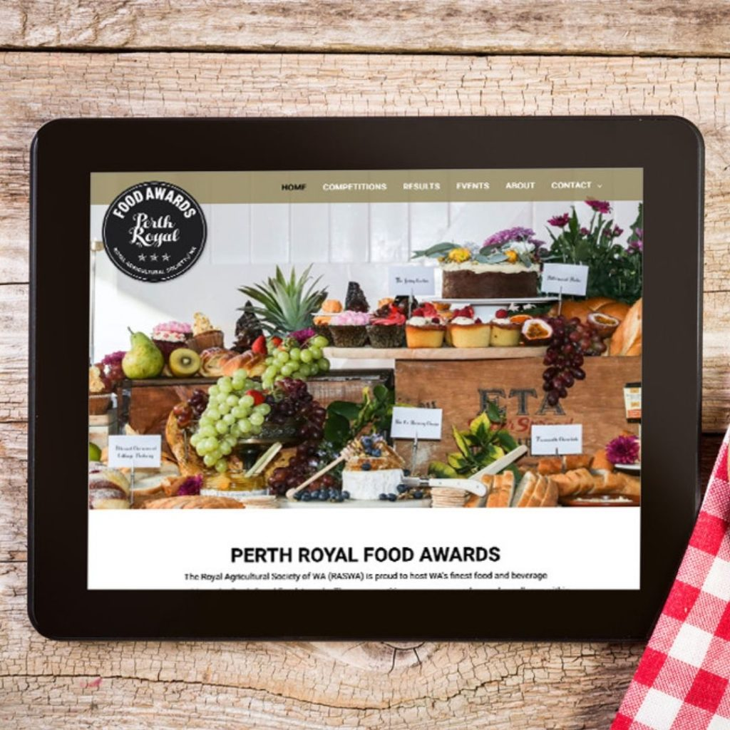 Perth Royal Food Awards Website