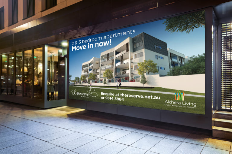 Outdoor signage design, print and installation